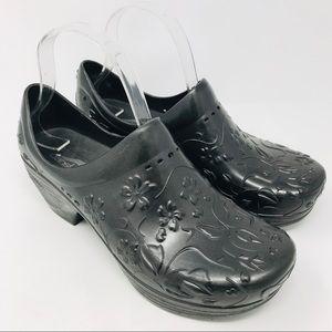 Dansko Grey Pixie Floral Clogs Shoes 38